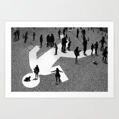 Skaters Art Print