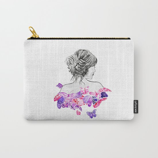 Lady and butterflies Carry-All Pouch
