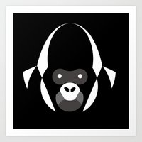 gorilla Art Prints featuring Gorilla by Alvaro Tapia Hidalgo