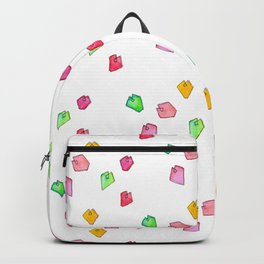 Be Simple - Coffee Illustration Tea Cup Green Watercolor Love Heart Pattern Backpack