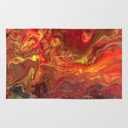 Acrylic Pour #45 Lava-Love Rug