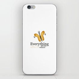 WISE BUTTERFLY iPhone Skin