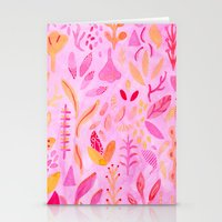 flora Stationery Cards featuring Flora by messy bed studio