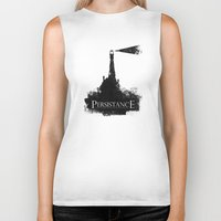 lord of the rings Biker Tanks featuring Lord of the Rings Motivational Poster - Persistance by Barrett Biggers