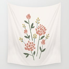 Wildflowers - Blush Wall Tapestry
