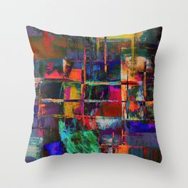 Canvas Abstract Deux Throw Pillow