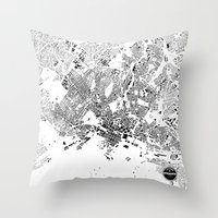oslo Throw Pillows featuring OSLO by Maps Factory