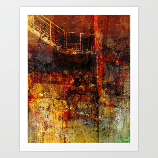 Stairs to the basement Art Print