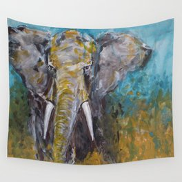 African Elephant Bull Wall Tapestry