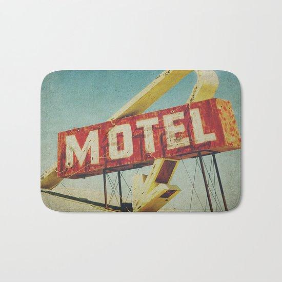 Thrashed Motel Sign Bath Mat
