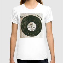 you are what you listen to, GRUNGE T-shirt