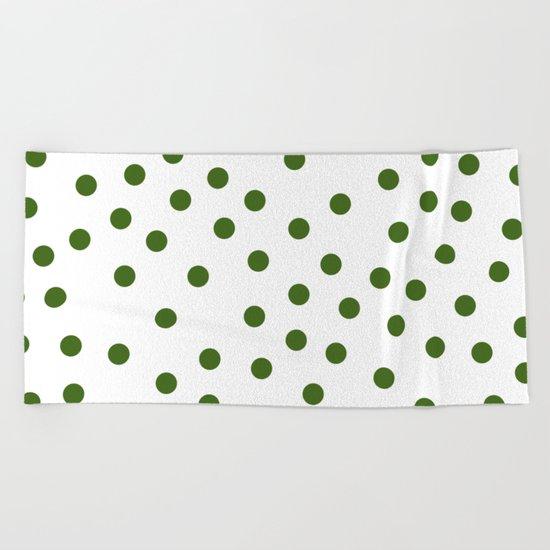 Simply Dots in Jungle Green Beach Towel