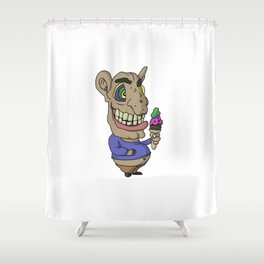 Ice-cream Goblin Shower Curtain