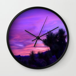Desert Sunset - Mormon Mountains Wilderness, Nevada Wall Clock