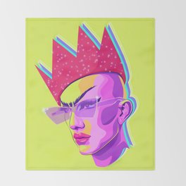 QUEEN SASHA VELOUR Throw Blanket