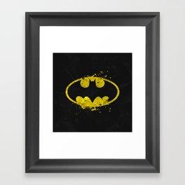 Bat man's Splash Framed Art Print