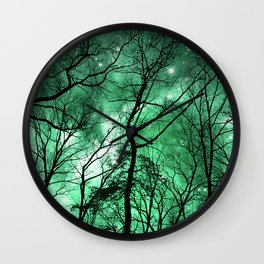 The Trees Reach Out at Night Wall Clock