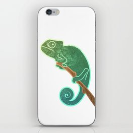 The Ever Watchful Chameleon iPhone Skin