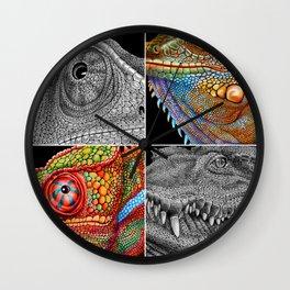 Reptile Scales Wall Clock