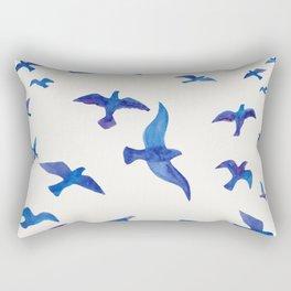 Blue Birds Rectangular Pillow