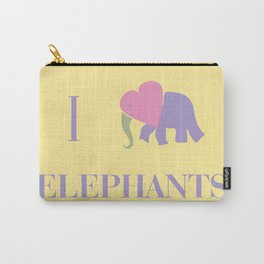 I Heart Elephants Carry-All Pouch