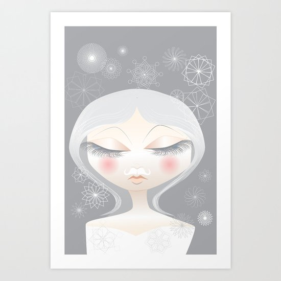 A Moustache From the SnowFall Art Print