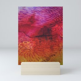 Textured Chrysanthemum | Jewel Toned Fuschia Gold Mini Art Print