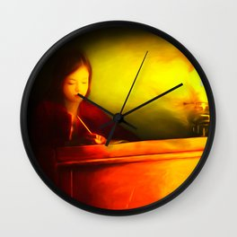 Dear Diary Wall Clock