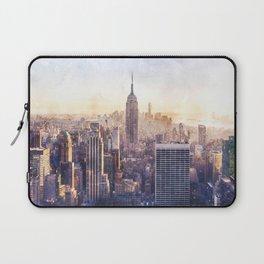 New York City Watercolor Skyline Laptop Sleeve