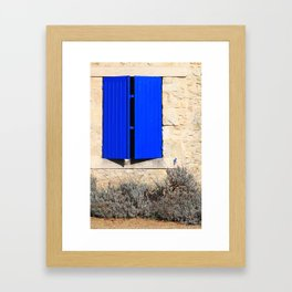chateau window in france Framed Art Print