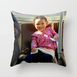 An Uphill Smile, Worth A Zillion Throw Pillow