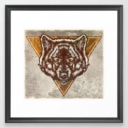 Ghost Wolf Framed Art Print
