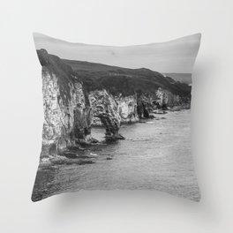 Scotland Cliffs Throw Pillow