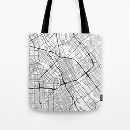 San Jose Map, USA - Black and White Tote Bag