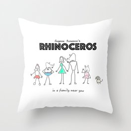 In a Family Near You Throw Pillow