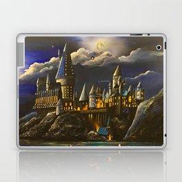 Hogwarts at Starry night Laptop & iPad Skin