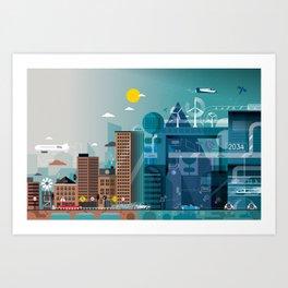 Back to the future ... Art Print