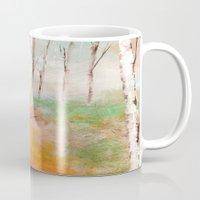 birch Mugs featuring Birch  by Indraart