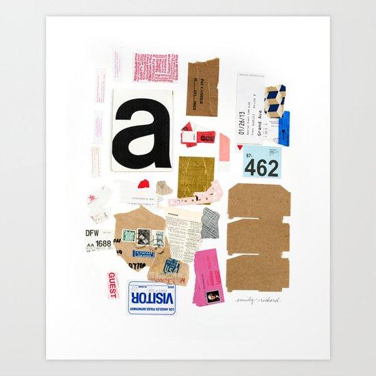 Paper Trail I  Art Print
