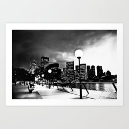 Mono-Chrome City Art Print