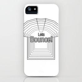 Fun 80s Slang on Tshirt Illusion Design iPhone Case