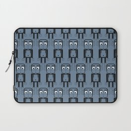 Super cute animals - Cheeky Blue Monkey Laptop Sleeve