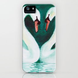 Swans Flirt iPhone Case