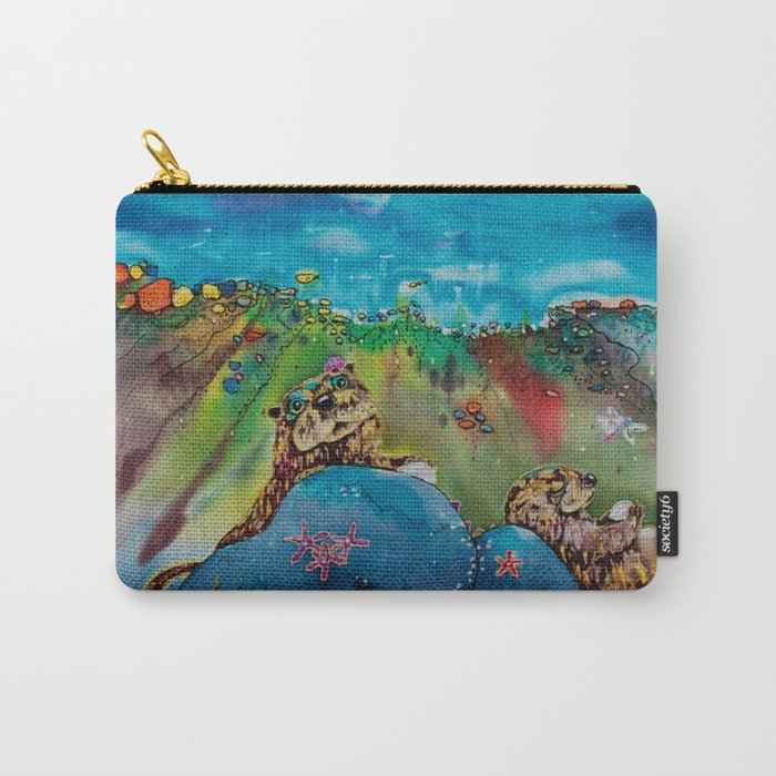 Otters at the Beach Carry-All Pouch