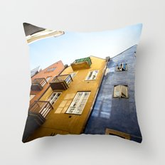 Colours of Warsaw Throw Pillow