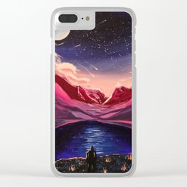 Fractured Starlight Clear iPhone Case