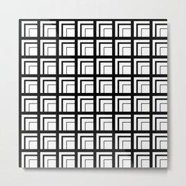 Geometric Squares Metal Print