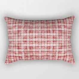 Dusty Pink Gingham Plaid Faux Suede Rectangular Pillow