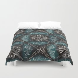 Forget me not compass (blue) Duvet Cover