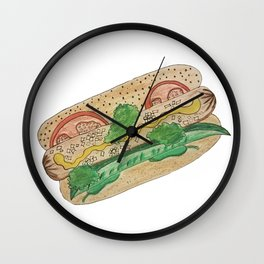 Chicago hotdog Wall Clock